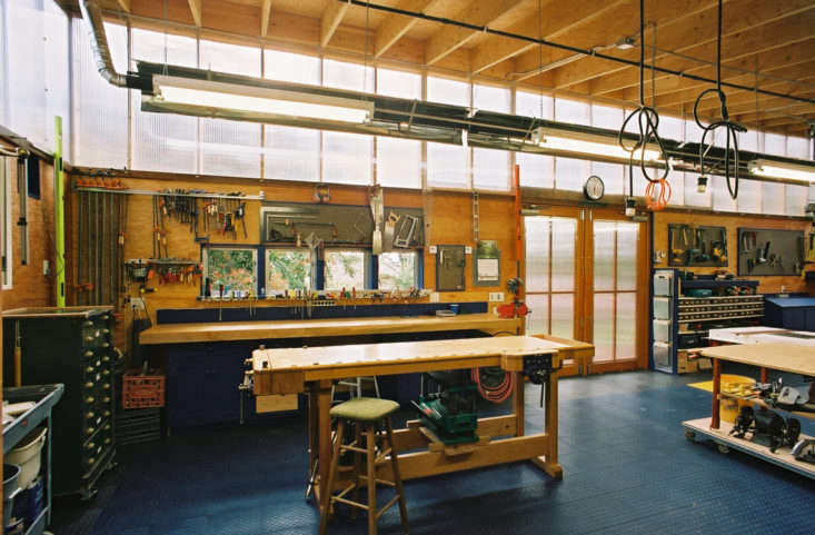 Harrison Architects out of Seattle designed this industrial salvage chic garage