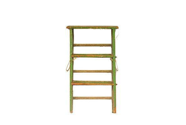 A Vintage Folding Wood Step Ladder is \$80 from Vintassentials via Etsy.