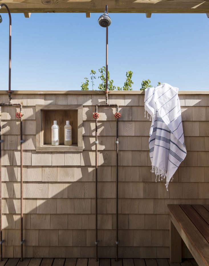Outdoor showers Cape Cod by Matthew Williams