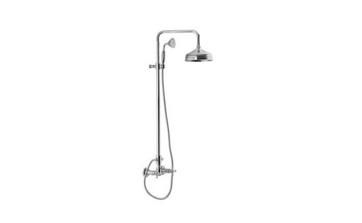 From Fima&#8\2\17;s Elizabeth collection, a Wall Mounted Classic Shower Faucet With Rainhead And Hand Shower Set is \$\1,909 from The Bath Outlet.