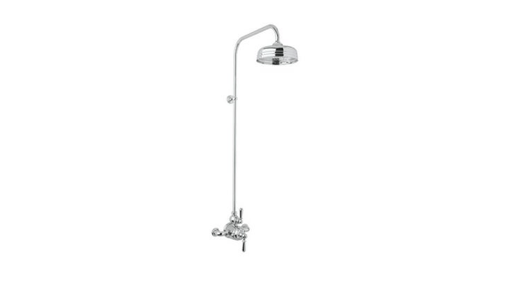 From Rohl, a Perrin & Rowe Edwardian Exposed Shower Package has an 8-inch shower head and is \$3,036 from Decor Planet.