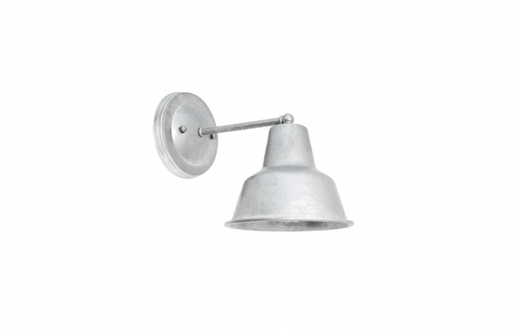 A Barn Light Mini Artesia Wall Sconce can be customized with a choice of gooseneck or straight arms and is available in a range of colors; as shown, \$\149 from Barn Light Electric.