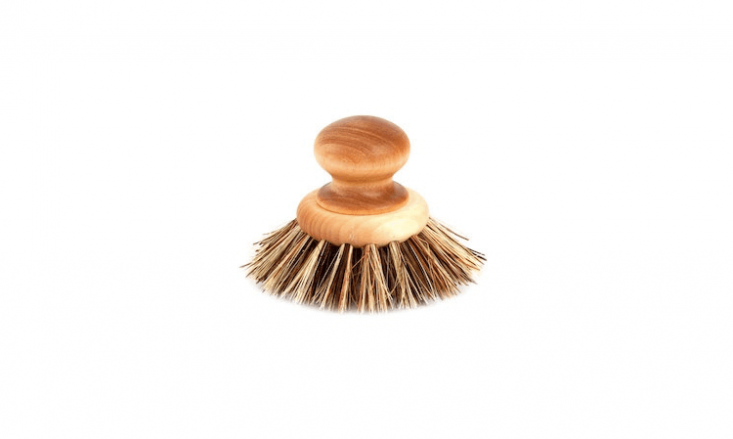 A Pan & Vegetable Brush by Iris Hantverk has a birch handle and is $ from Fjorn.