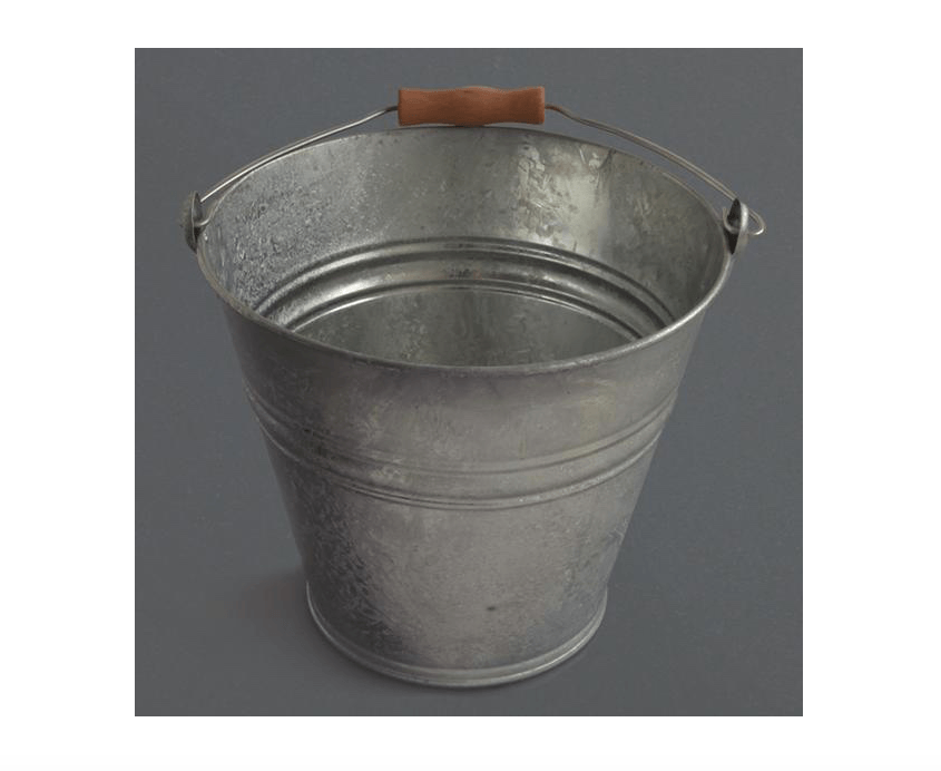 Our galvanized Bucket With Wooden Handle came from Labour and Wait and is £.