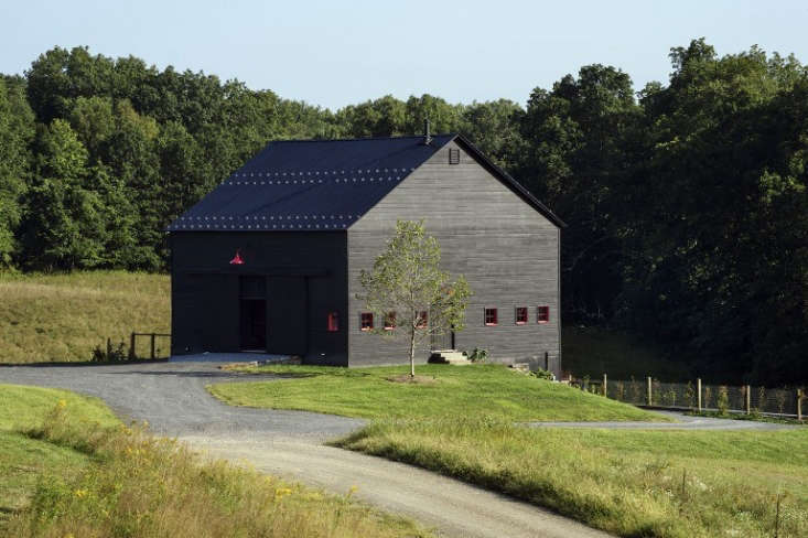 See more of this driveway and garden at Architect Visit: A Natural Pool and Passive House in New York's Hudson Valley. Photograph by Reto Guntli, courtesy of BarlisWedlick Architects.