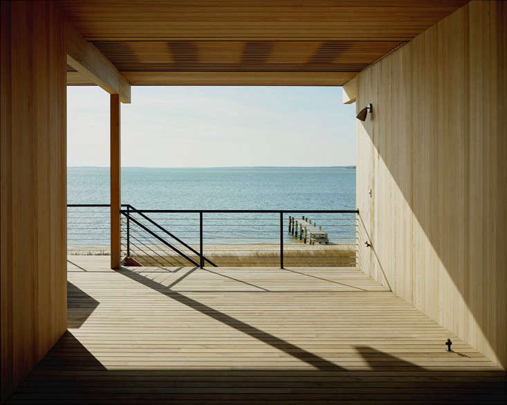 A breezeway in Cary Tamarkin's Shelter Island home