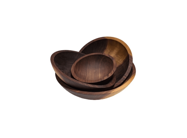 Christine&#8\2\17;s favorite bowls for serving summer salads are Colonial Hardwood Bowls made of walnut; \$35 to \$\16\1, depending on size, at the Vermont Bowl Co.