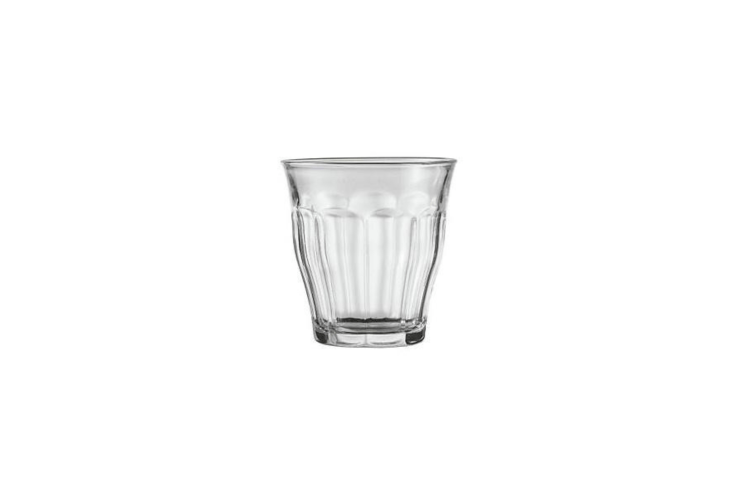 For sipping wine outdoors, we like the classic French bistro-style Clear Tumbler Wine Glasses from Picardie; a set of six is \$\14.48 at Amazon.
