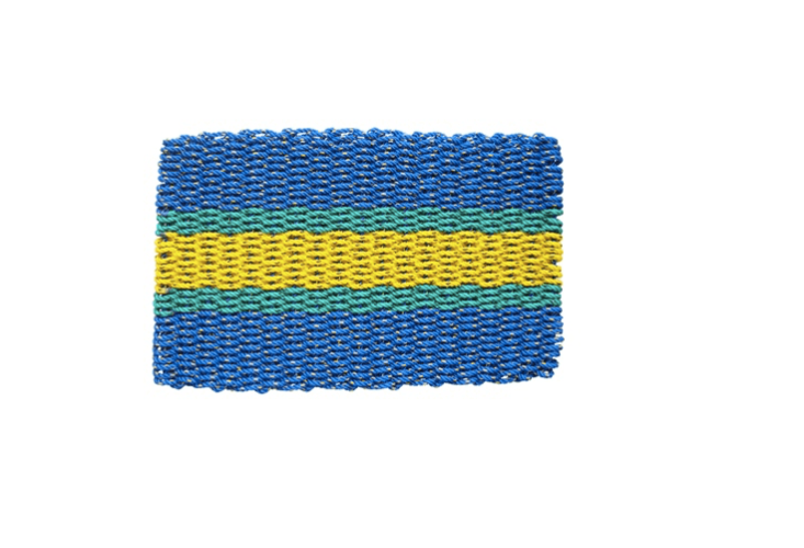 Colorful woven rope doormat via The New England Trading Company