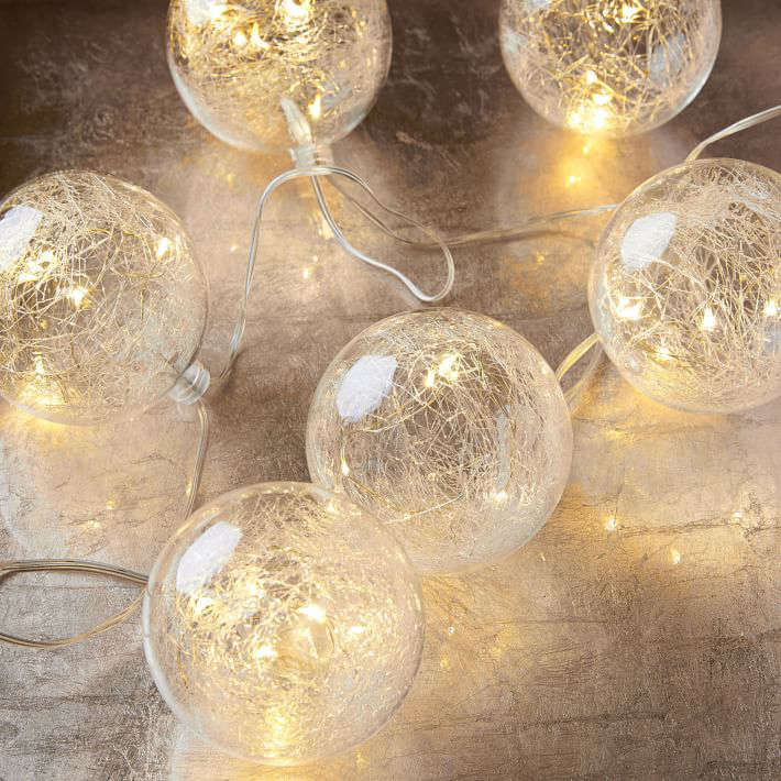 A \10-foot length of globeLED String Lights is \$\19 from West Elm.