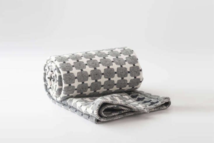 Easy Pieces: Winter Wool Blankets: Designed by British weaver Eleanor Pritchard and woven in a Welsh mill, theEleanor Pritchard Wool Throw is designed in a fully reversible pattern; $349 at Schoolhouse.