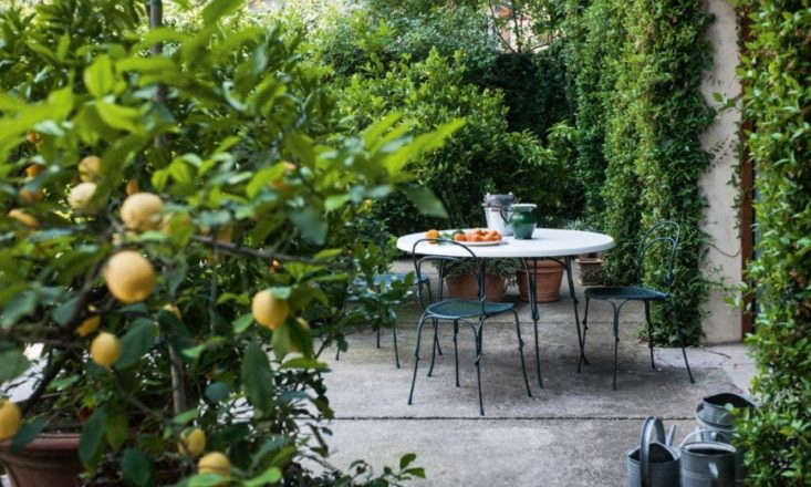 Designed for Italian furniture company Magis Design, Gamper's Vigna collection includes stacking chairs and a round table, with frames made of curled and swirled steel rods. For more information and prices, see Magis.