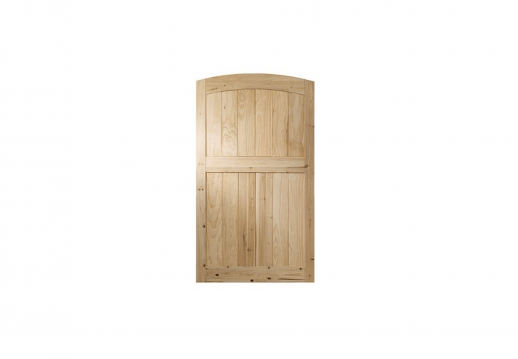 A 6-foot-high arched Cedar Privacy Fence Gate is $