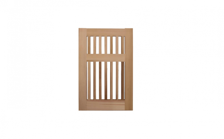Based in Sebastapol, California Prowell Woodworks offers a variety of high-quality, attractive wooden garden gates made to order within a range of specifications. An open picket style, Garden Gate No. 40 constructed of western red cedar is available in widths up to 60 inches, thicknesses up to