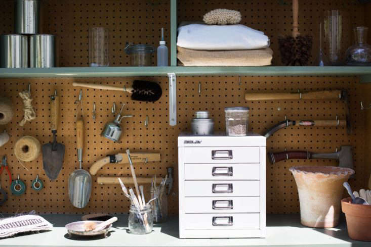 File cabinets and other office storage accessories are just as useful in a garden shed. Who doesn&#8