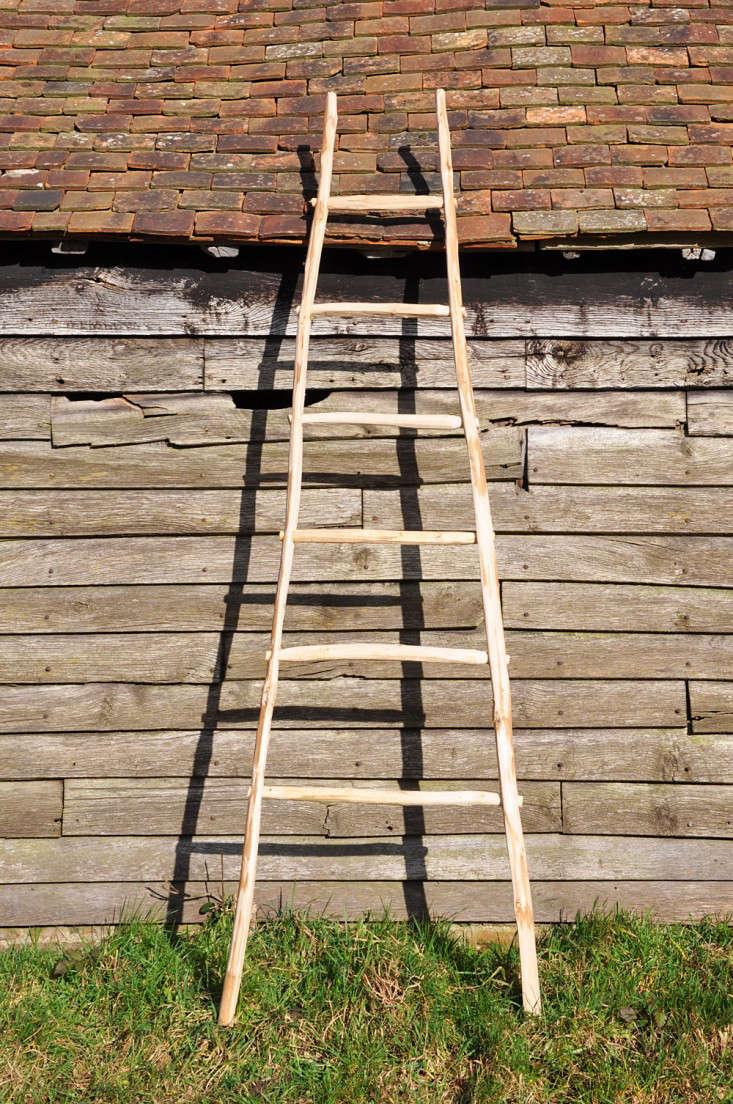 Ladder of sweet chestnut at Great Dixter shop