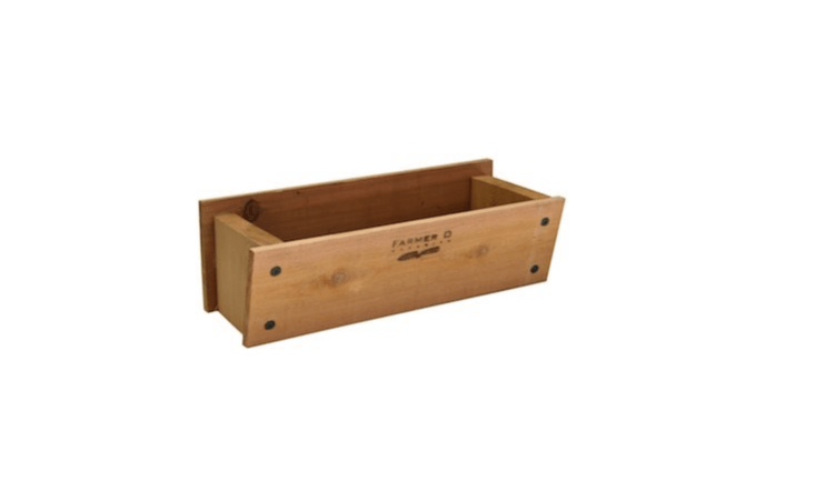 A Cedar Window Box is available in two lengths,  and 36 inches; $89.95 and $loading=