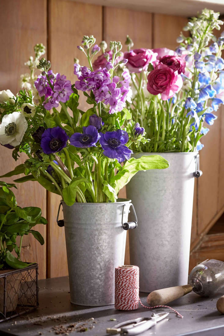 A set of three Galvanised Flower Buckets with handles is £39 from Sophie Conran.