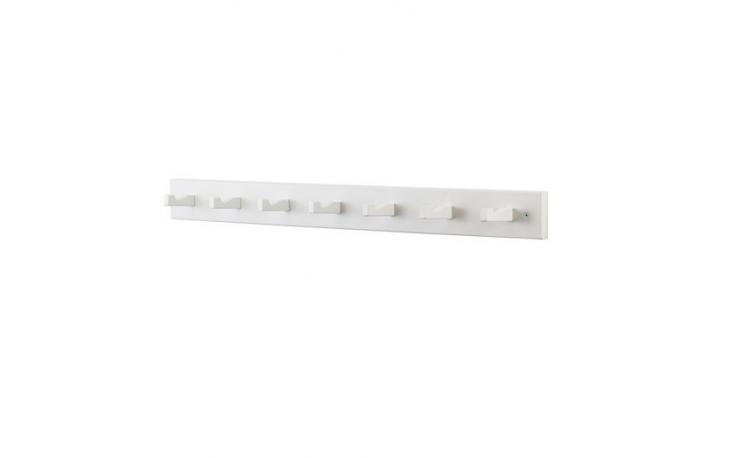 From Ikea, a birchKubbis Rack with seven hooks is $loading=