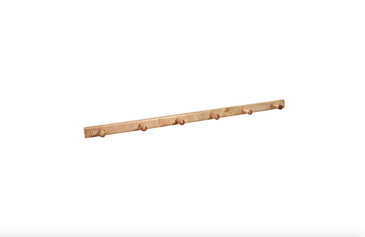 A maple and birch Peg Rack by InterDesign is $.49 at Life & Home.