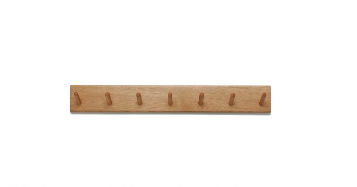 A solid oak Peg Rail made in Portugal has seven pegs and is £0 from Another Country.