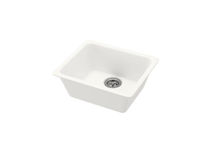 A white Domsjo Sink is \$\185.99.
