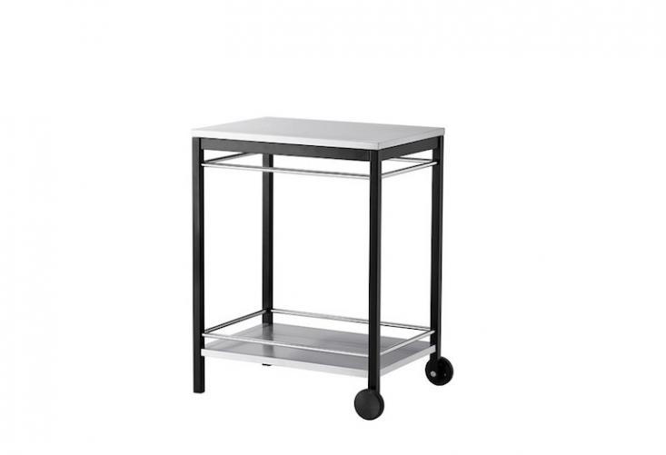 From Ikea, an outdoor Klasen Serving Cart is \$\109.