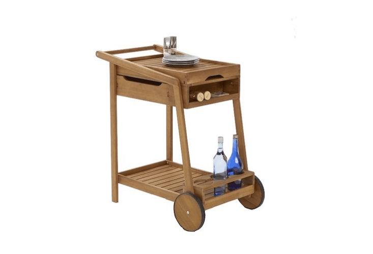 Made of acacia wood, a large Rollout Trolley is £\2\29 from La Redoute.