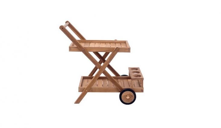 A teak Kazafana Bar Serving Cart is \$\273.99 from All Modern.