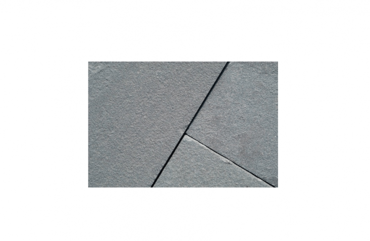 &#8\2\20;With a thermal bluestone, the surface is sawn and then treated, creating a stone with a much more uniform look,&#8\2\2\1; says Stone Farm Living. For specs and prices, see Stone Farm Living.