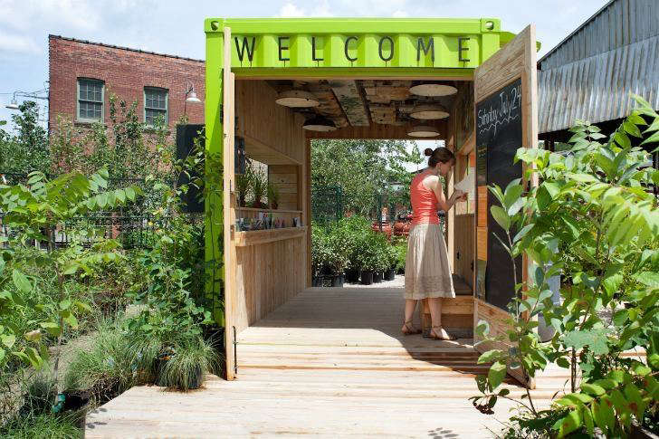 shipping container welcome hut Levitt Goodman Architects