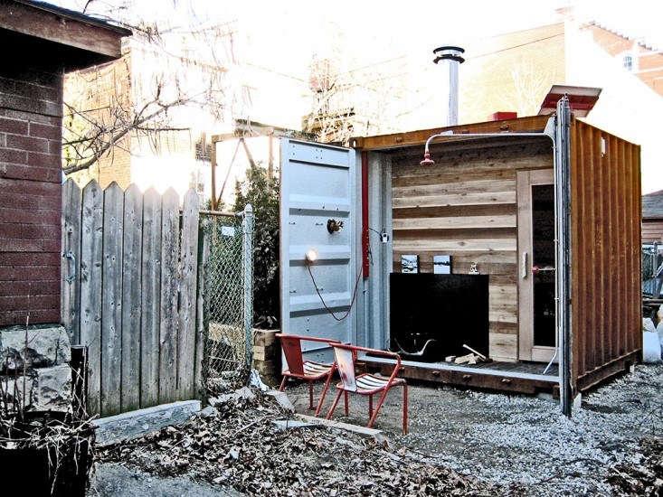 Shipping Container Castor Design Sauna Box