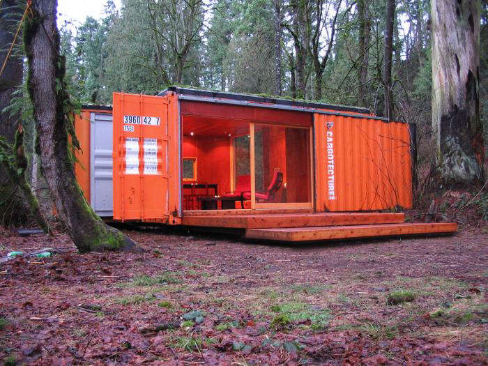 shipping container home hybrid architecture