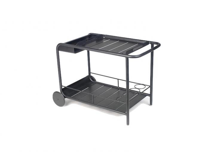 Fermob outdoor bar cart on wheels