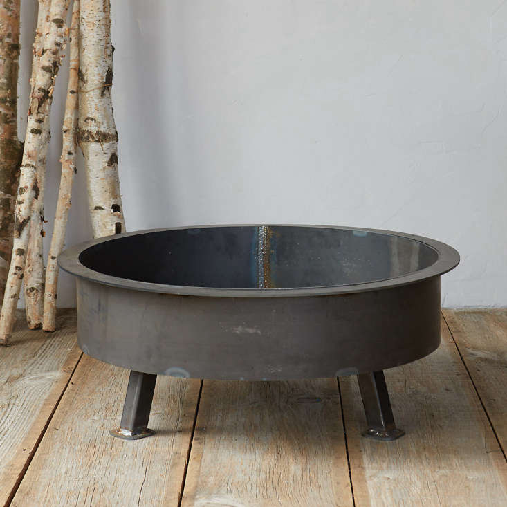 The Insignia Fire Pit measures 3\1 inches across; \$848 at Terrain.