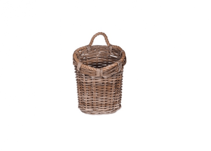 A rattan Holkham Utility Basket is handmade; £30 from Garden Trading.