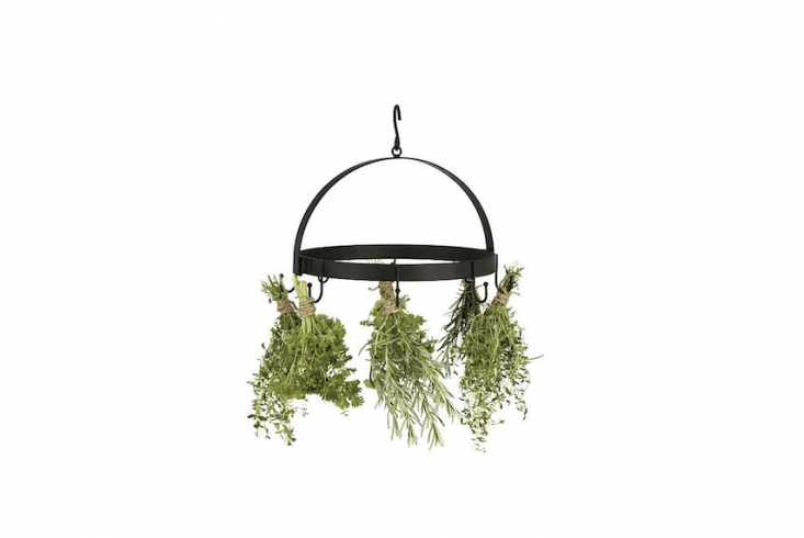A black powder-coated multiuseHerb Dryer Rack also suitable for hanging kitchen utensils is £9.99 from Clas Ohlson.