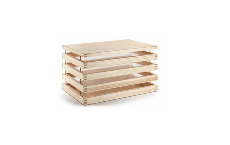 Handmade in Austria, the Spruce Wood Herb Dryer Rack is €loading=