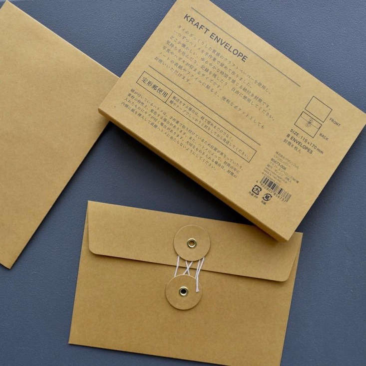 Above: Not designed with seeds in mind per se, these envelopes with a string enclosure would make handsome seed packets. A set of eight Midori Kraft Envelopes is €9.90 from Nomado Store.
