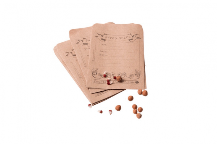 Made from recycled paper, a pack of \20 Seed Saver Envelopes is \$7.09 from Country Trading Co via Etsy.