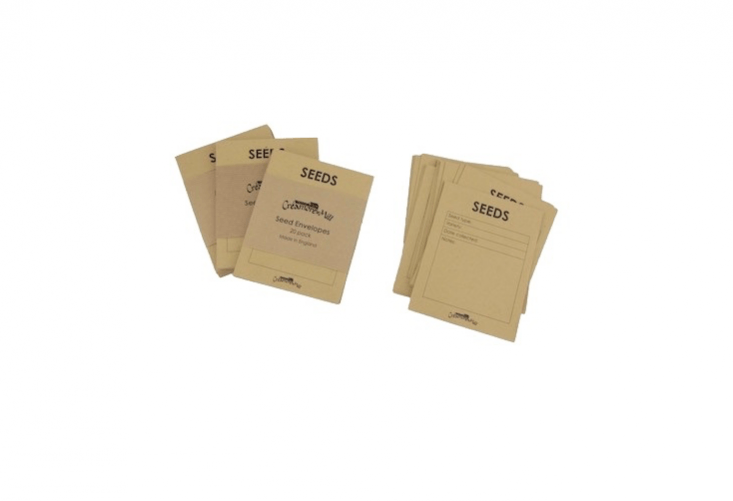 A pack of \20Seed Envelopes from Creamore Mill is £4.75 from Willow and Stone.