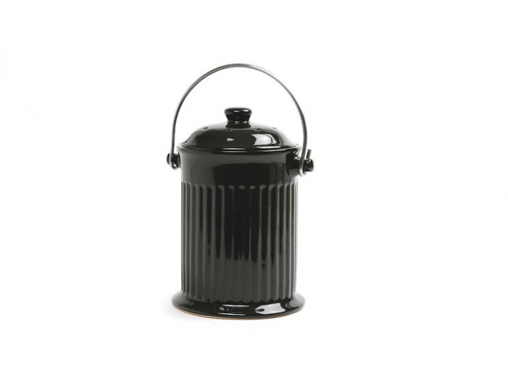 A black \1-gallon Ceramic Compost Keeper by Norpro is \$\2\2.89 at Amazon.
