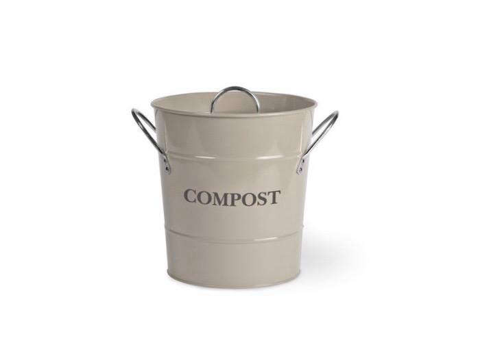 Garden Trading also sells a steel Compost Bucket with nickel-plated handles available in three colors including Clay as shown; £\20.