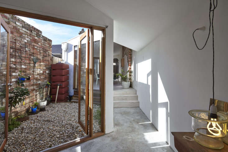 Studio Edwards in Melbourne designed this small home with two courtyards