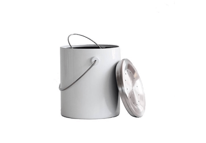 A white Hudson Compost Caddy is \$£\23.99 at UK-based All Green.