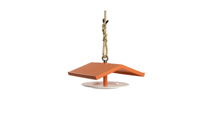 With a porcelain feeding platform and a peaked orange roof made ofsoft polyurethane, a Birdhouse by Marcel Wanders is€55 at Droog.