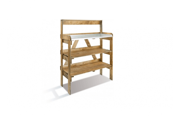 APreparation Table is made of European pine and has a galvanized worktop; €79.90 from Bricozor.