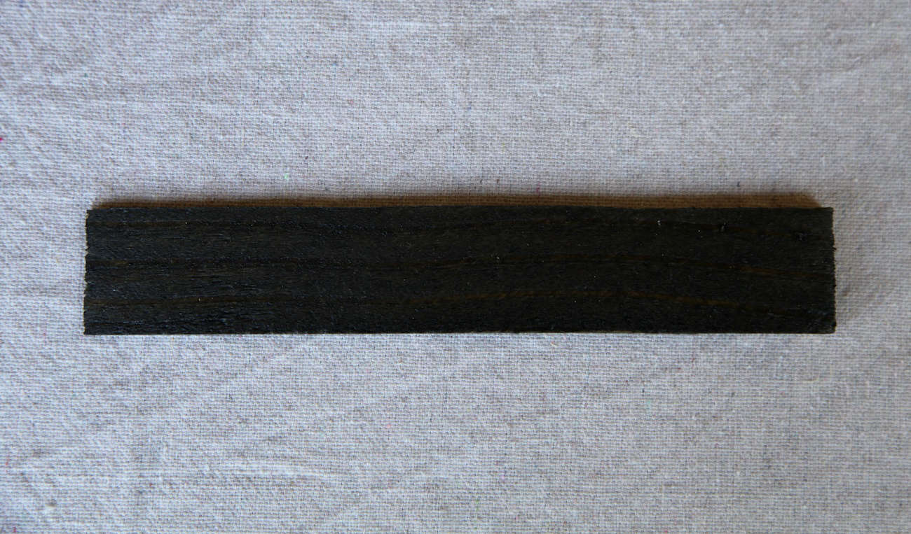 Semi-Transparent Stain in Ebony from Portland, OR-based natural finishes companyTimber Pro UV will provide a near-solid finish.