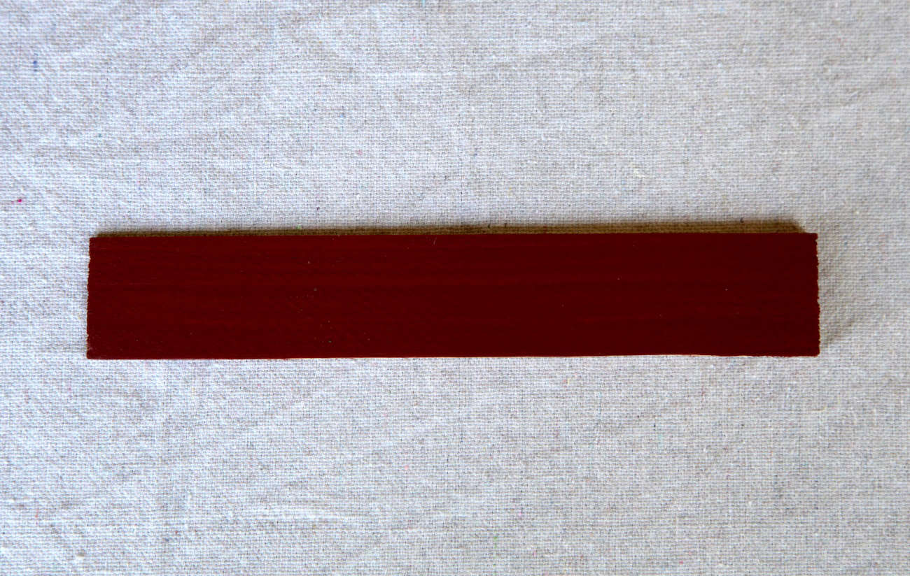Olympic Solid Stain in Winning Red. (For a red-stained barn, see Architect Visit: Deborah Berke Artist&#8