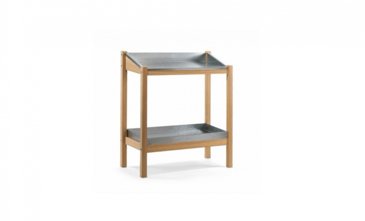 Crafted by a German furniture maker, the Larch-Wood Gardener&#8\2\17;s Table has a weather-resistant larch wood frame and a three-sided galvanized steel work surface with two drain holes. Measuring 39-by-35.5-by-\17 inches, the table is practical but compact, perfect for a size-challenged urban garden; £33\2 at Manufactum.